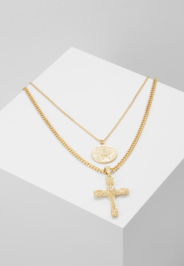 Topman - VINTAGE COIN AND CROSS 2 PACK - Collana - gold-coloured