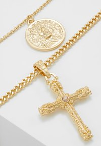 Topman - VINTAGE COIN AND CROSS 2 PACK - Collana - gold-coloured - 4
