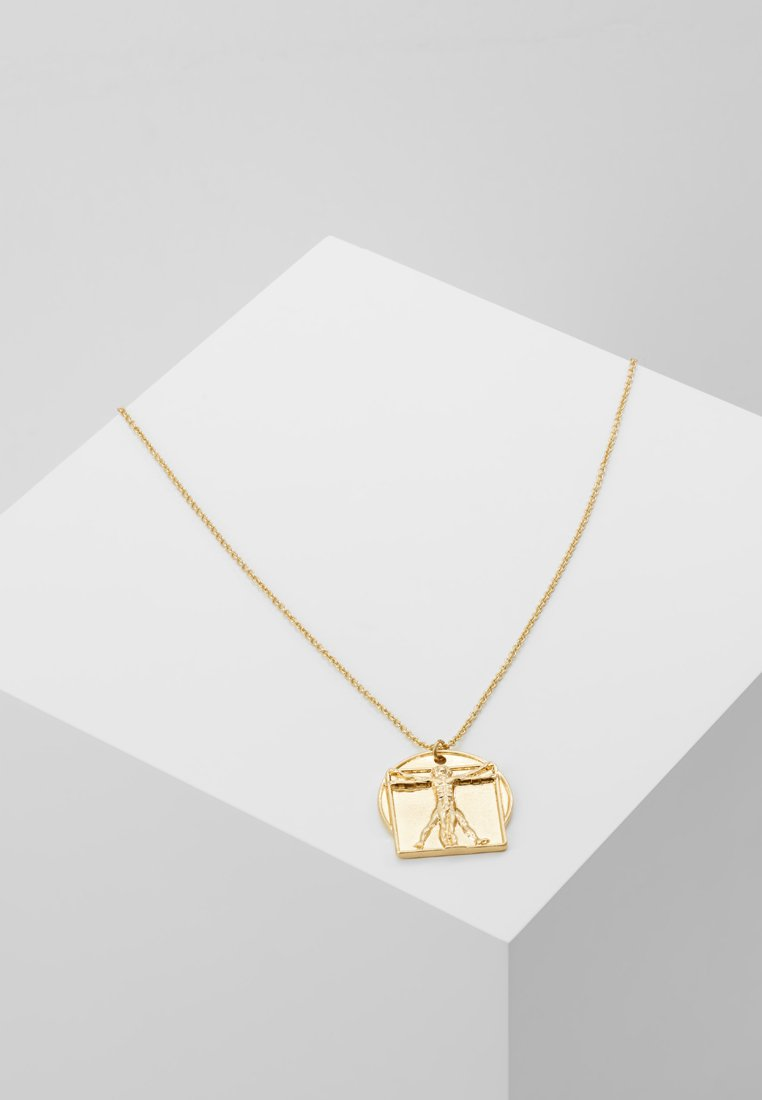 Topman - SQUARE AND CIRCLE RELIGIOUS PENDANT - Collar - gold-coloured