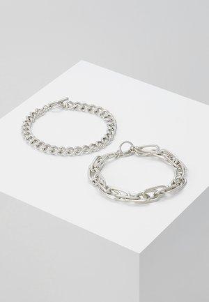 INDUSTRIAL BAR 2 PACK - Bracelet - silver-coloured