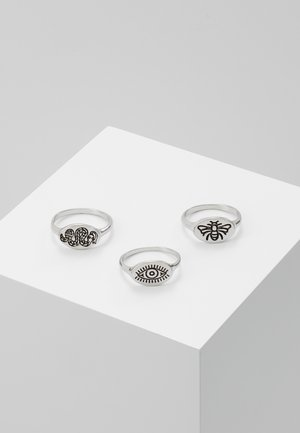 BEE AND SNAKE SET - Ring - silver-coloured