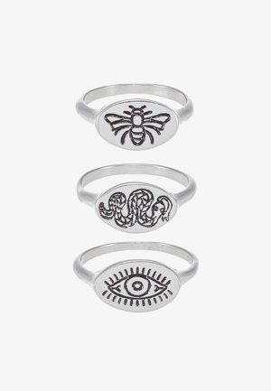 BEE AND SNAKE SET - Anello - silver-coloured