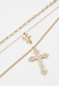 Topman - CHERUB CROSS AND CHUNKY CHAIN NECKLACE - Náhrdelník - gold-coloured - 4