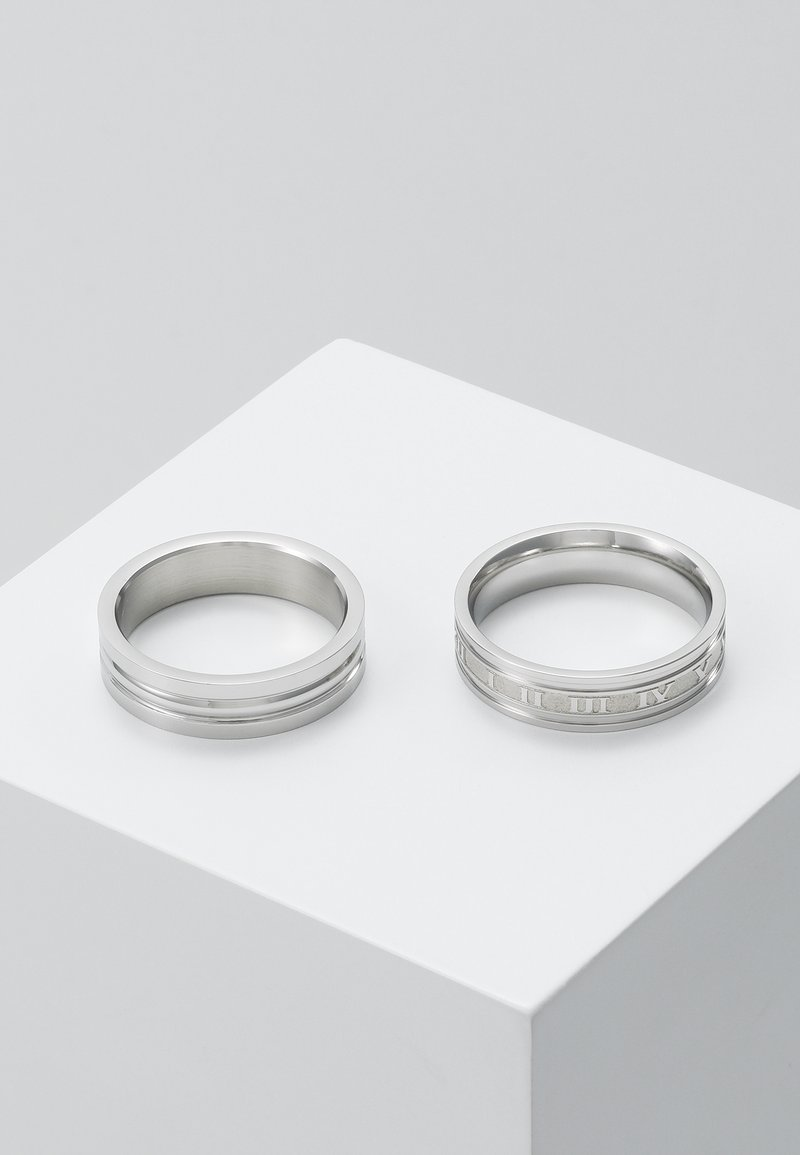 Topman - ROMAN NUMERAL SET - Anillo - silver-coloured