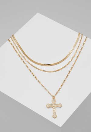 CROSS MULTIROW - Collana - gold-coloured
