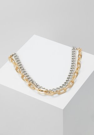 MIXED METAL NECKLACE - Halskette - silver/gold coloured