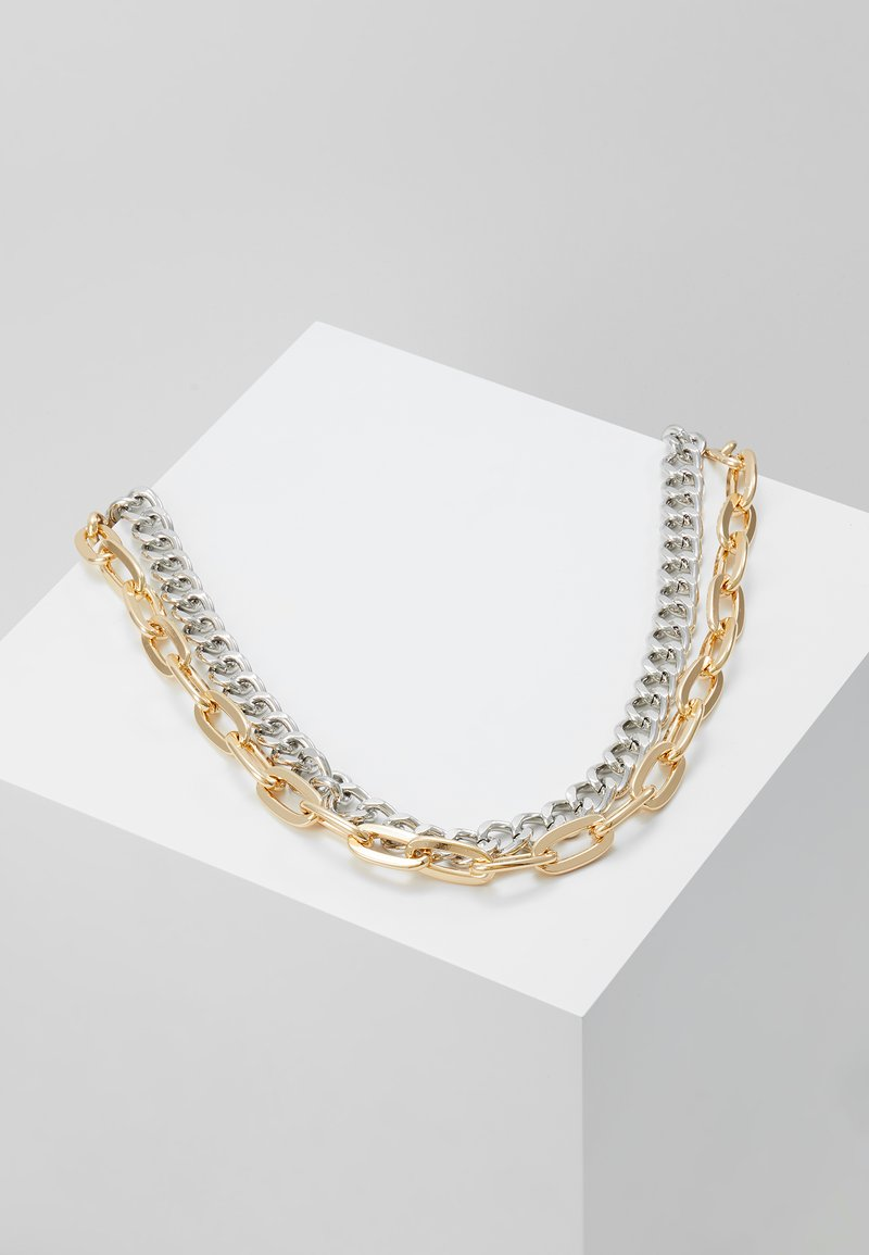 Topman - MIXED METAL NECKLACE - Halskette - silver/gold coloured