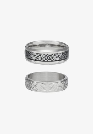 PINKY ETCHED RING SET - Bague - silver-coloured