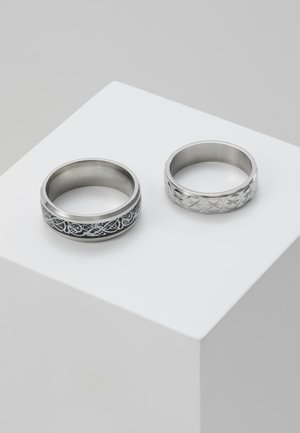 PINKY ETCHED RING SET - Pierścionek - silver-coloured