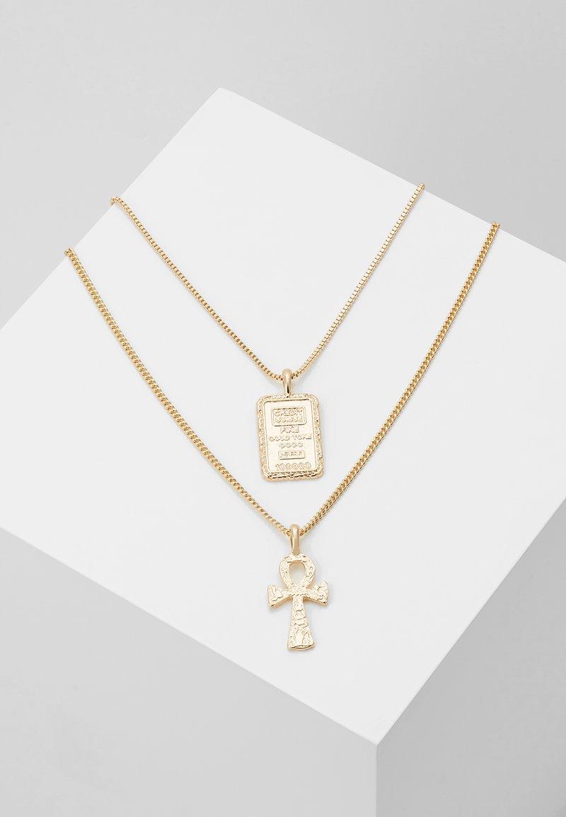 Topman - EGYPTIAN CROSS MULTIROW 2 PACK - Smykke - gold- coloured