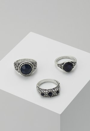 RHINESTONE 3 PACK - Ring - silver-coloured