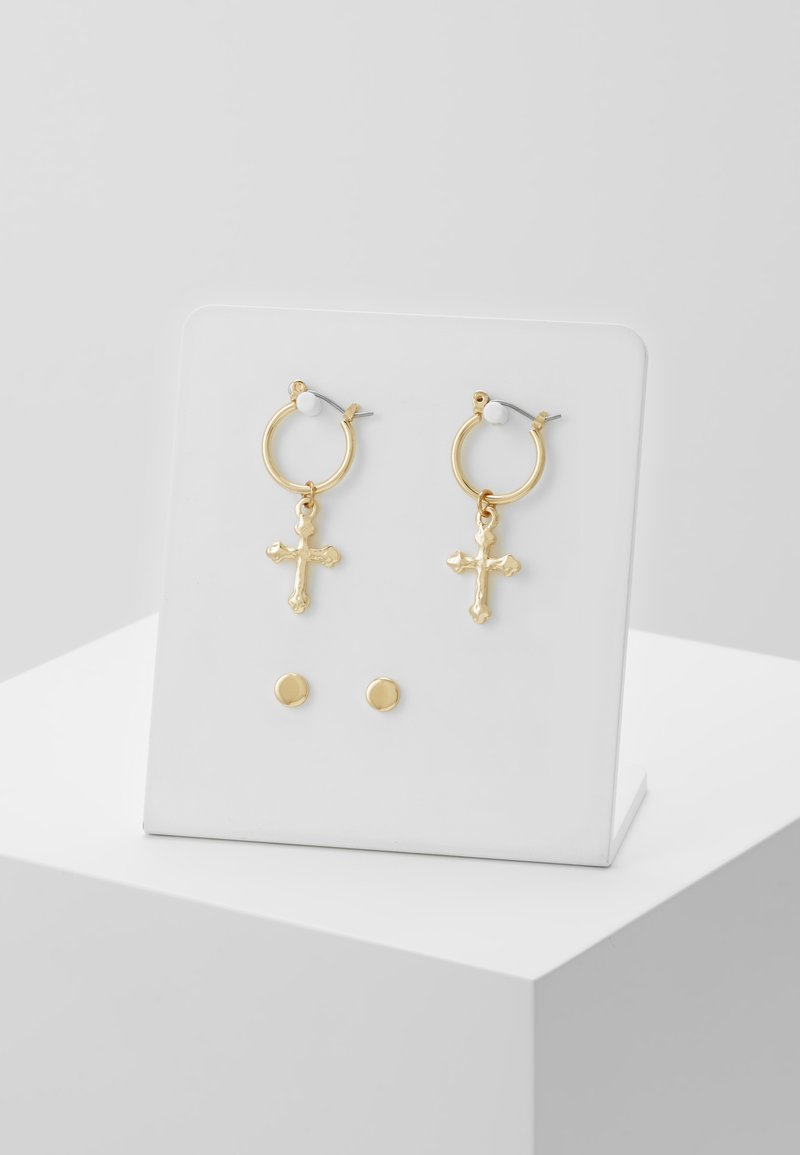Topman - MINI DROP SET - Earrings - gold-coloured