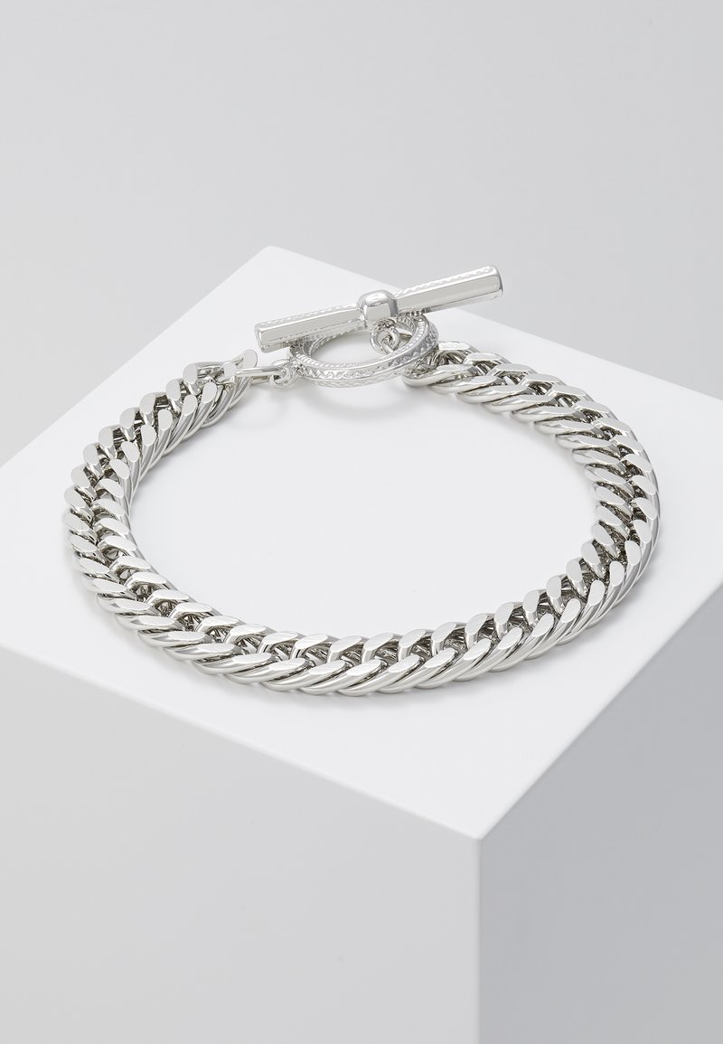Topman - CHUNKY CHAIN - Bracelet - silver-coloured