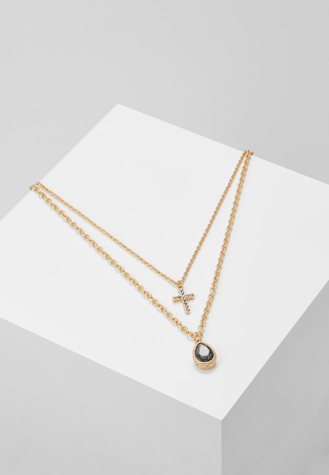 TEARDROP CROSS SET - Collier - gold-coloured
