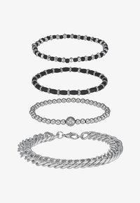 Topman - CHUNKY LAYERED WRISTWEAR - Armband - silver-coloured - 3
