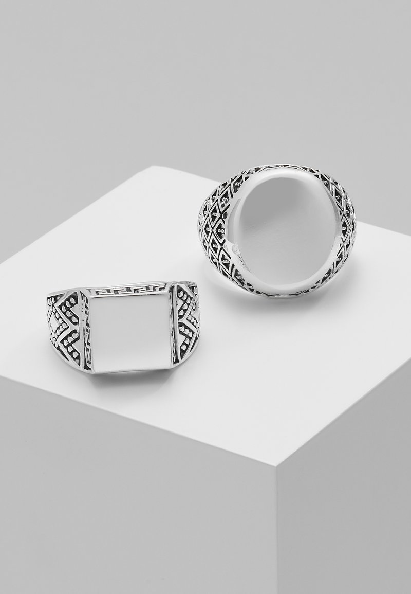 Topman - 2 PACK SOVEREI  - Bague - silver-coloured