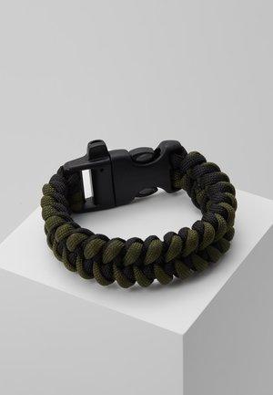 BRAIDED SAFETY BUCKLE - Bracelet - green