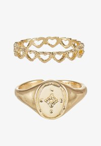 Topman - BOBBLE RING AND SIGNET 2 PACK - Ring - gold-coloured - 1