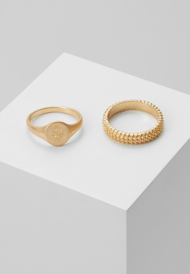 BOBBLE RING AND SIGNET 2 PACK - Sormus - gold-coloured