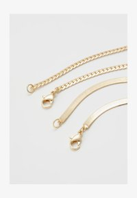 Topman - SIMPLE CHAIN 2 PACK - Collar - gold-coloured - 2