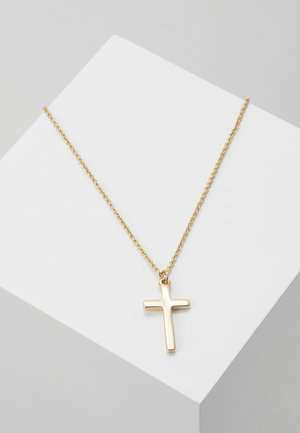 ENGRAVED CROSS PEND - Collier - gold-coloured