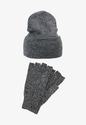 SET SKATER BEANIE AND FINGERLESS GLOVES SET - Gloves - grey
