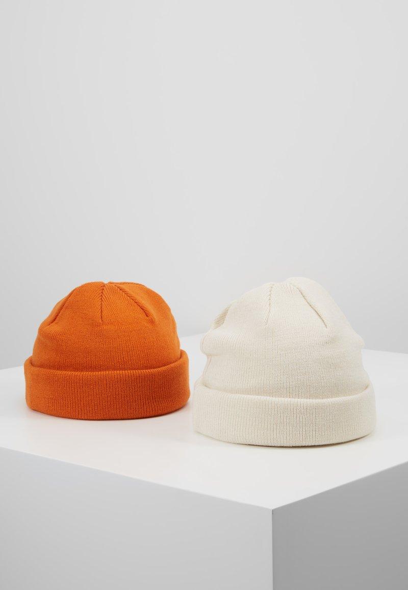 Topman - DOCKER BEANIE 2 PACK - Czapka - orange/white