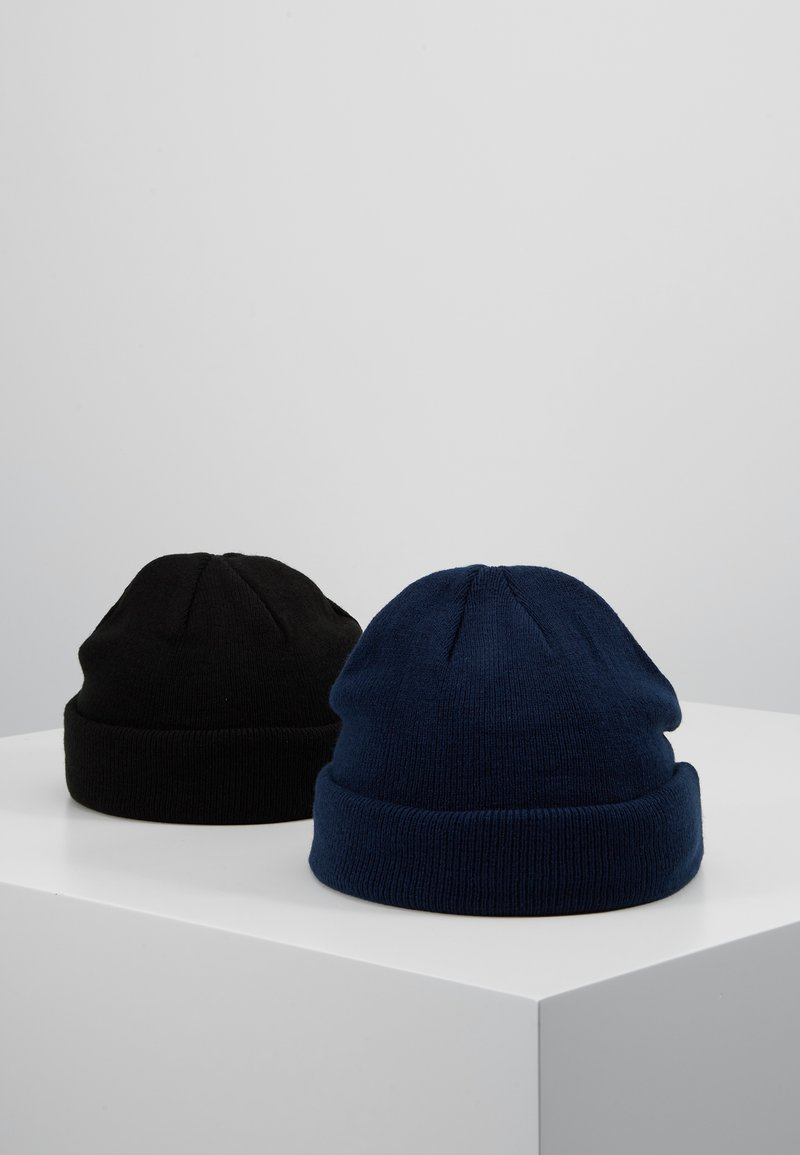 Topman - DOCKER BEANIE 2 PACK - Beanie - blue/black