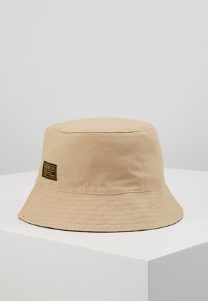 HERRINGBONE RIPSTOP BUCKET - Hat - stone/black