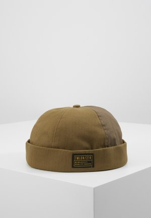 HERRINGBONE DOCKER - Bonnet - khaki