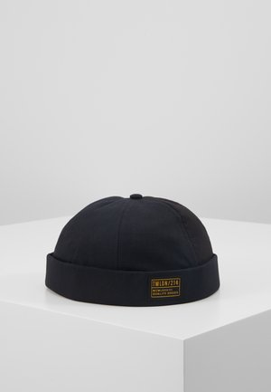 HERRINGBONE DOCKER - Bonnet - black