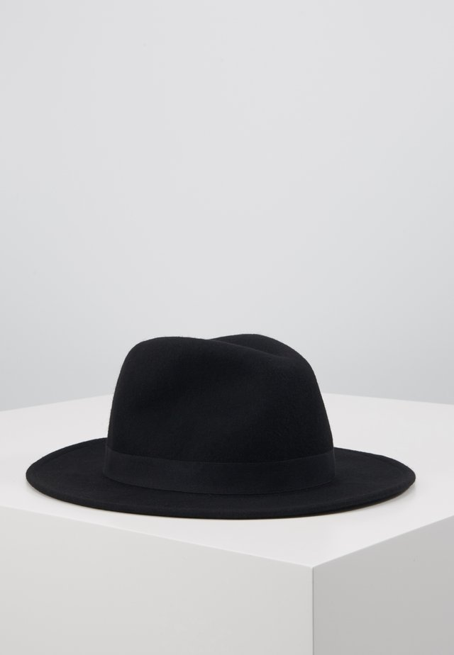 MELTON FEDORA - Hut - black