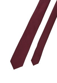 Topman - TEXTURED PLAIN - Kravata - burgundy - 2