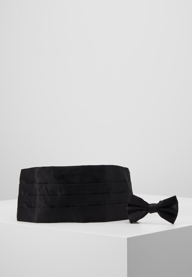 BOW TIE AND CUMERBAND SET - Rusetti - black
