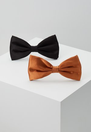 BOW TIE 2 PACK - Pajarita - black/brown
