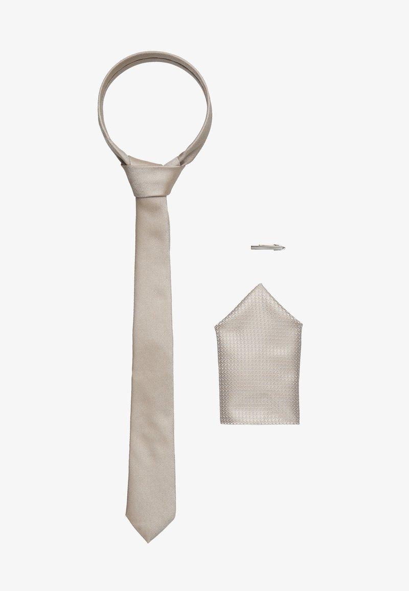 Topman - POCKET AND BAR SET - Tie - beige