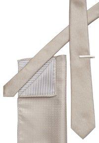 Topman - POCKET AND BAR SET - Tie - beige - 2