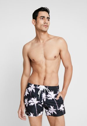 PALM SWIM - Badeshorts - black/white