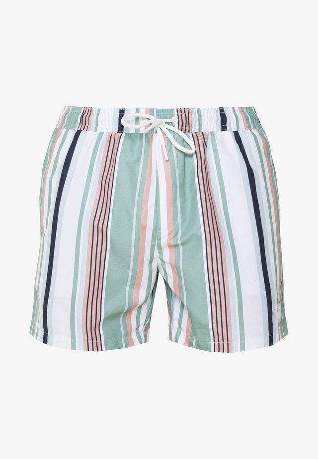 STRIPE SWIM - Shorts da mare - pink/white/blue
