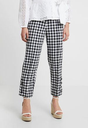 GINGHAM TAP - Trousers - mono