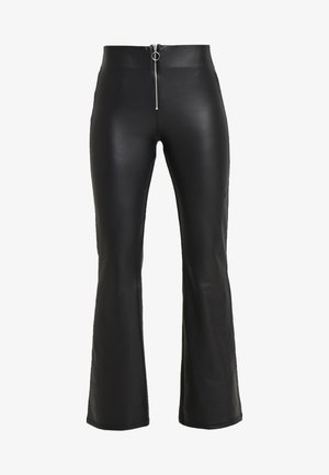 LOOK FLARE - Trousers - black