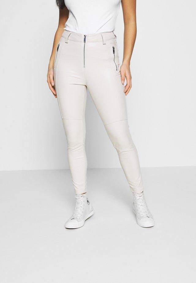 Spodnie materiałowe - ecry