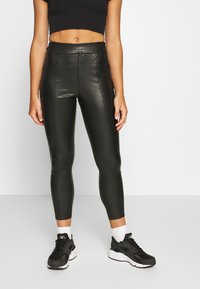 Topshop Petite - PIPER - Kalhoty - black - 0