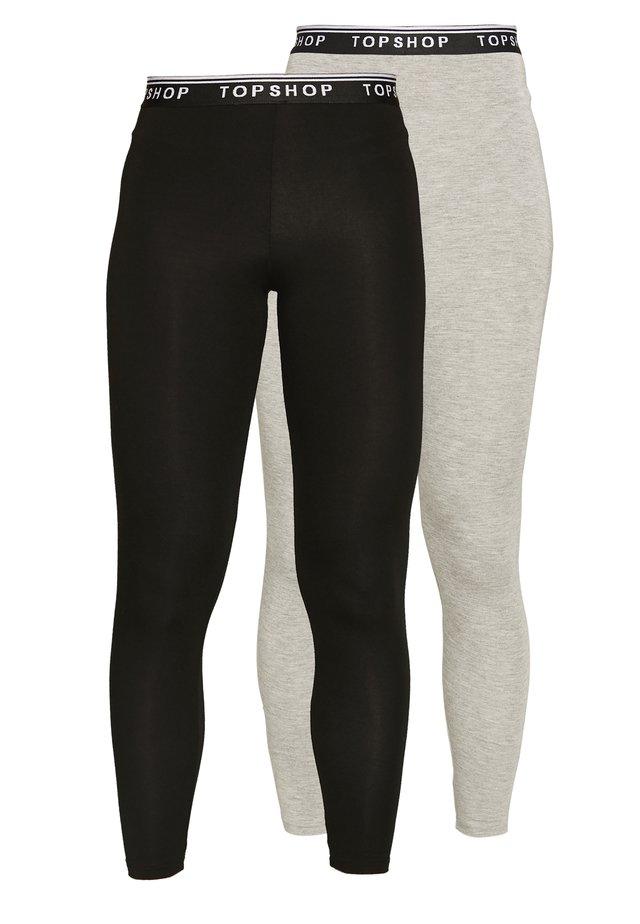 2 PACK - Leggings - black/grey