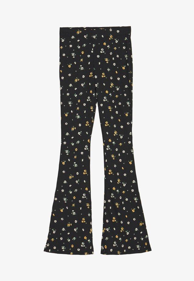NEW DITSY FLORAL - Spodnie materiałowe - black