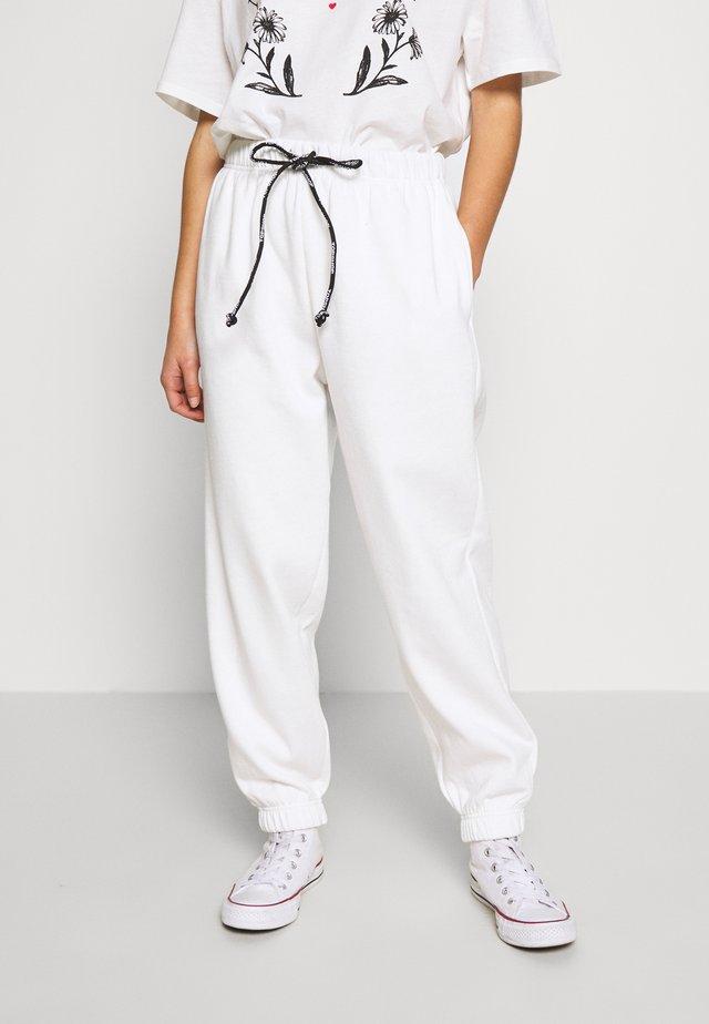 DRAWCORD - Teplákové kalhoty - white
