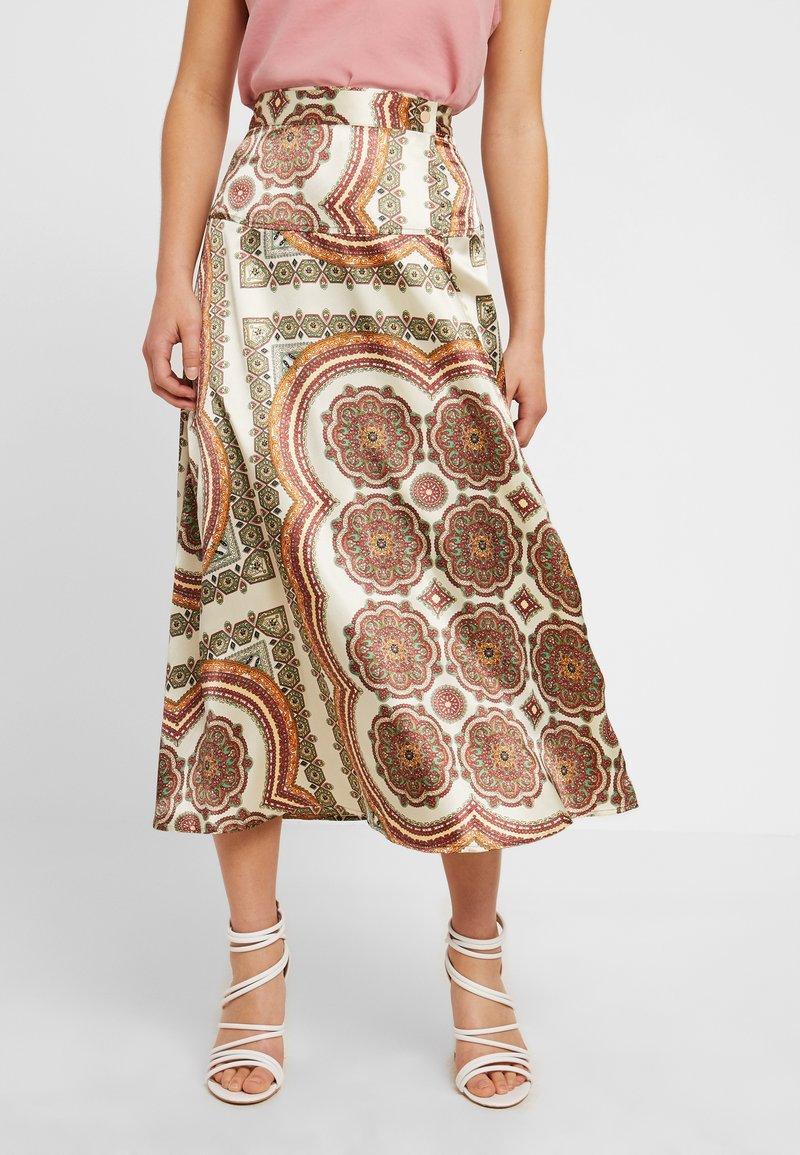 Topshop Petite - SCARF PRINT SKIRT - A-snit nederdel/ A-formede nederdele - multi-coloured