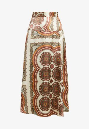 SCARF PRINT SKIRT - A-Linien-Rock - multi-coloured