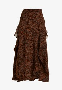 Topshop Petite - LEOPARD RUFFLE MIDAXI - A-snit nederdel/ A-formede nederdele - multi - 3