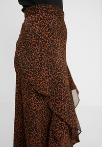 Topshop Petite - LEOPARD RUFFLE MIDAXI - A-snit nederdel/ A-formede nederdele - multi - 4